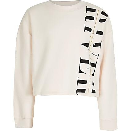 Age 13+ Girls pink 'River' sweatshirt
