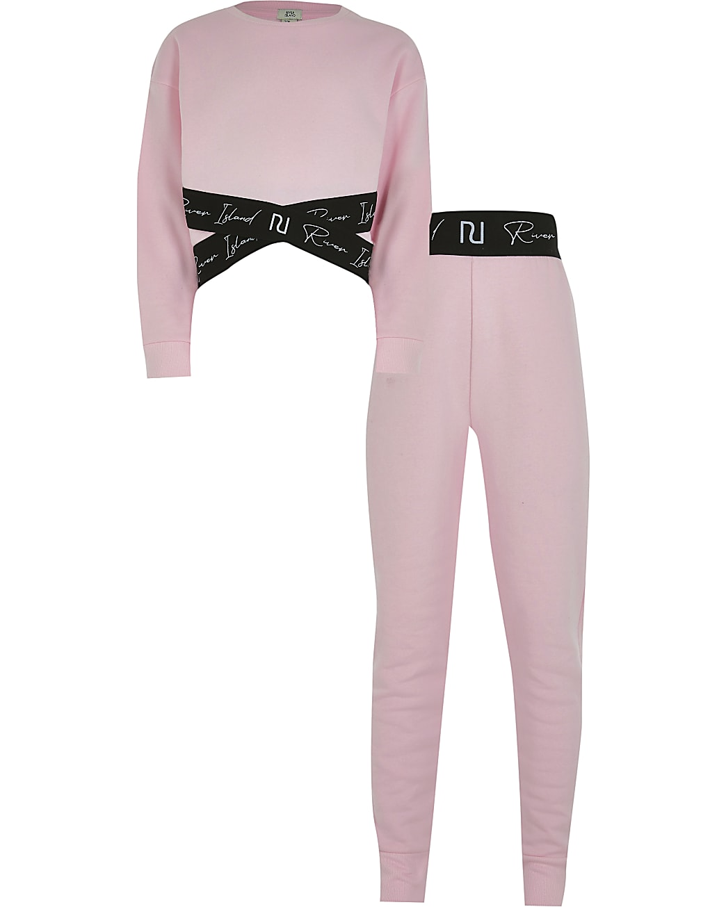 Age 13+ girls pink sweatshirt outfit