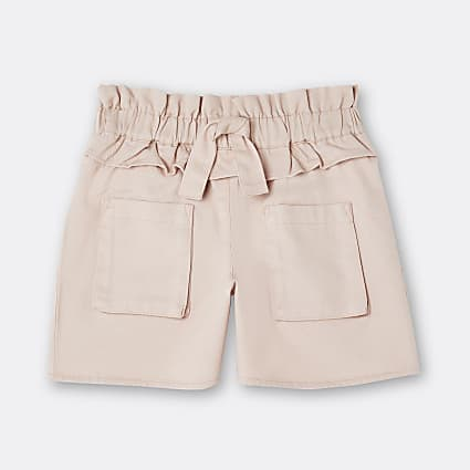 Age 13+ girls pink tie waist frill shorts