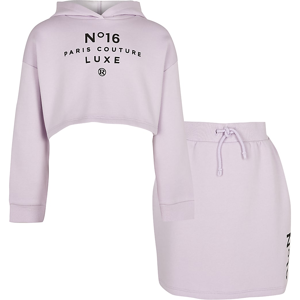 Age 13+ girls purple 'Paris Couture' outfit