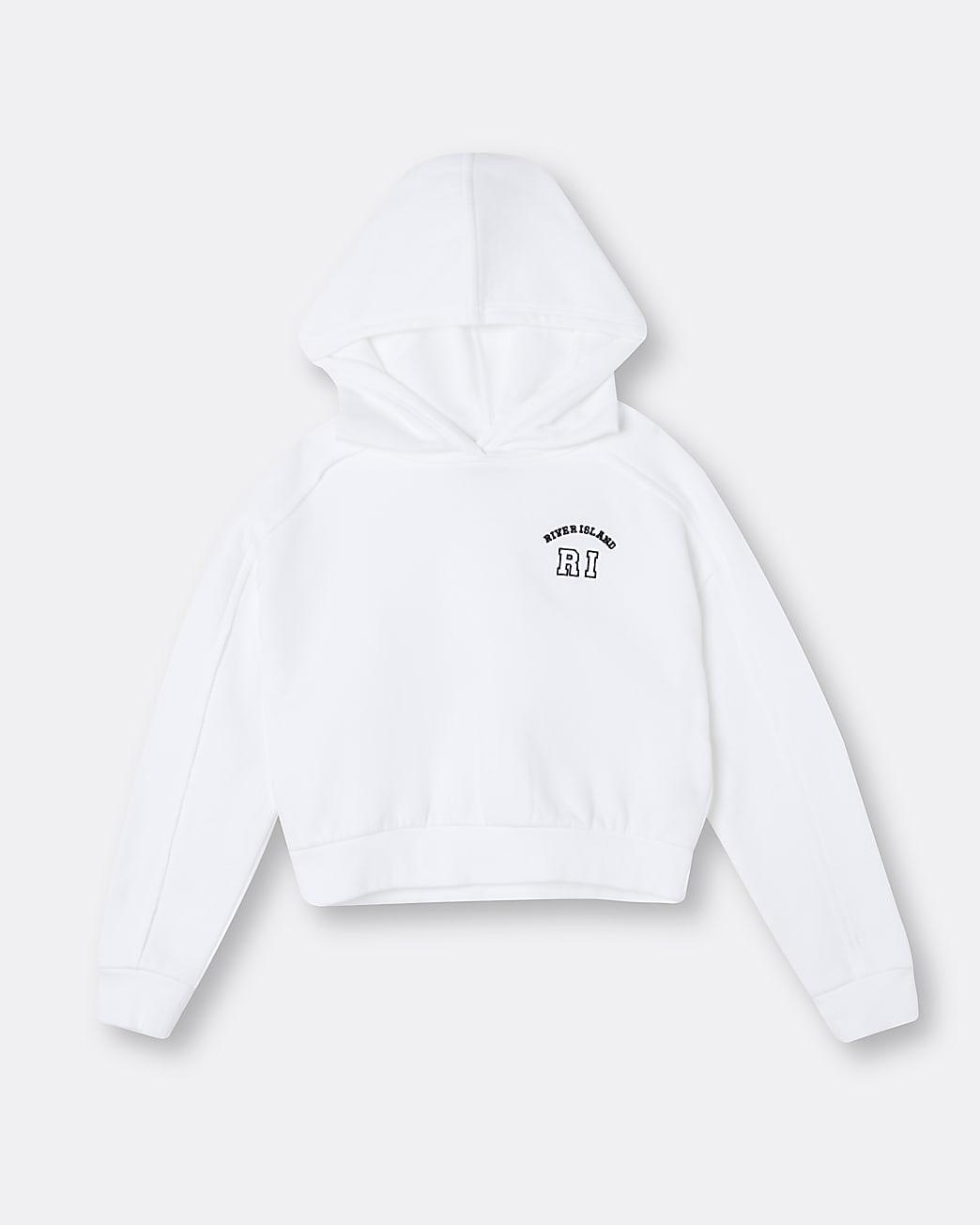 Age 13+ girls white RI hoodie