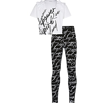 Age 13+ girls white RI L'amour outfit
