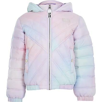 Age 13+ girls white tie dye  hooded jacket