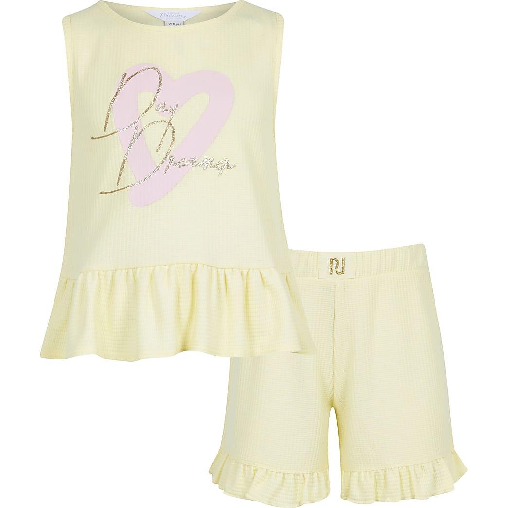 Age 13+ girls yellow 'Day Dream' pyjama set