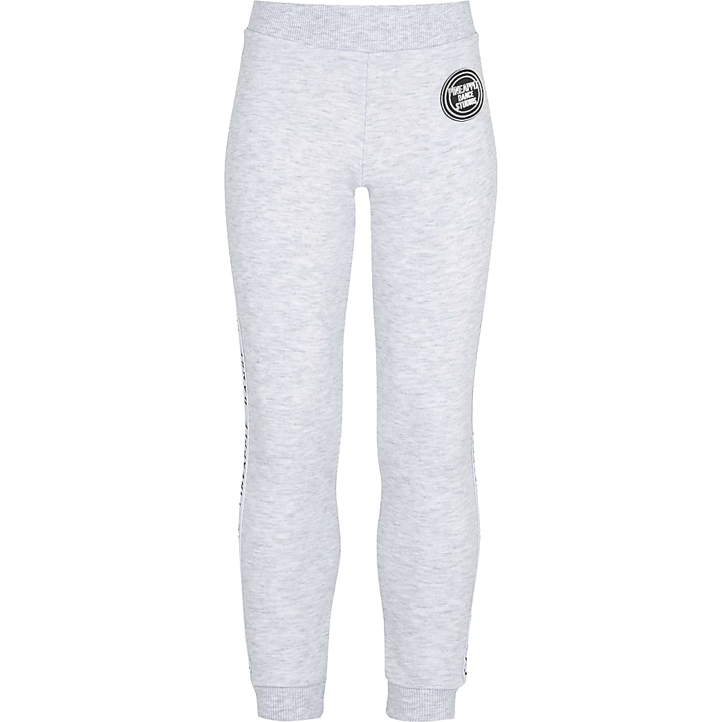 Age 13+ grey girls Pineapple jacquard joggers