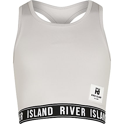 Age 13+ grey RI Active crop top