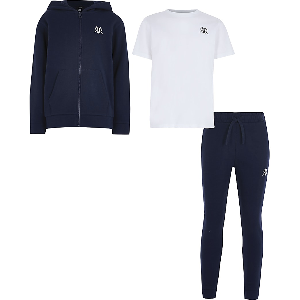 Age 13+ navy three piece tracksuit
