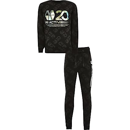 Age13+ boys black RI Active  tracksuit