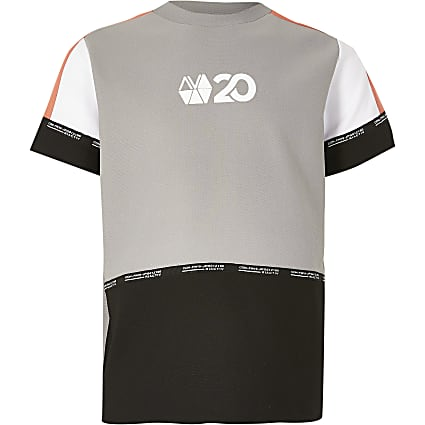 Age13+ boys coral RI Active block t-shirt
