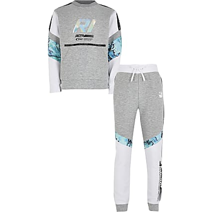 Age13+ boys grey Active oil slick outfit