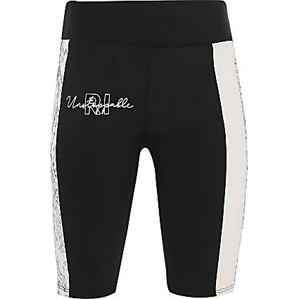 Age13+ girls black RI Active shorts