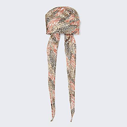 Animal print headscarf