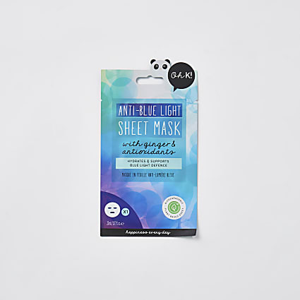 Anti- blue light sheet mask