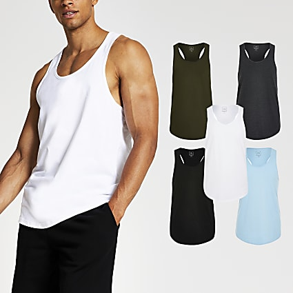 Aqua muscle fit racer vest 5 Pack