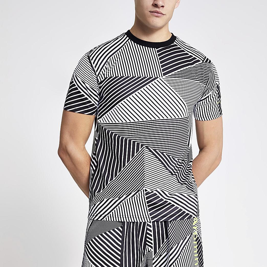 Arcminute – T-shirt à imprimé géométrique noir