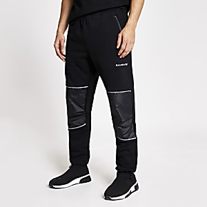 Arcminute – Schwarze Relaxed Fit Jogginghose