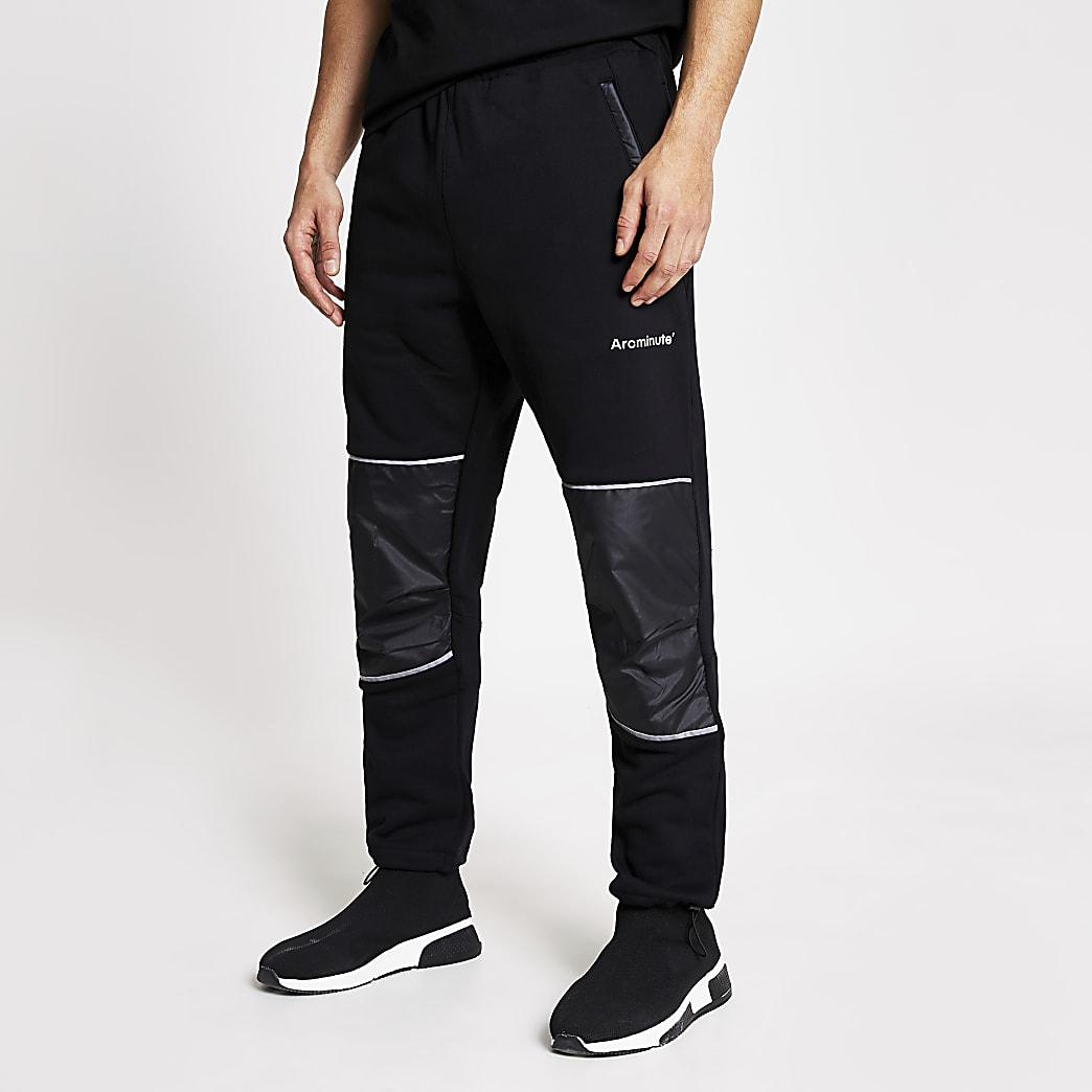 Arcminute - Zwarte relaxed-fit joggingbroek
