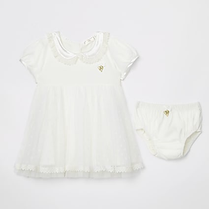 Baby Angel's Face cream dress with knickers
