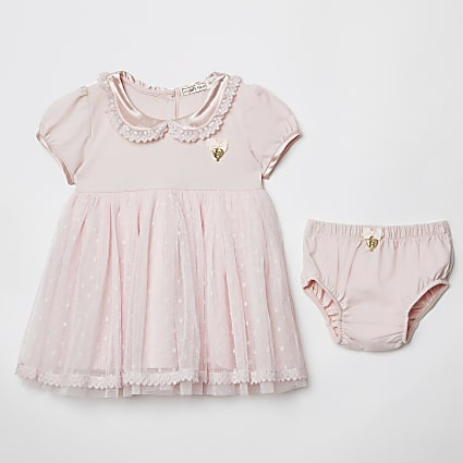 Baby Angels Face pink dress and knicker set