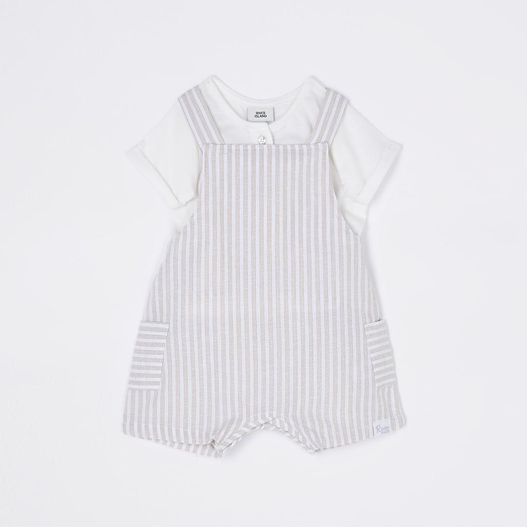 Baby beige stripe dunagrees