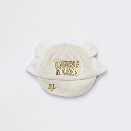 Baby beige 'Trouble Maker' baseball cap