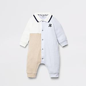 Blauer Strampler mit Colour-Blöcken für Babys