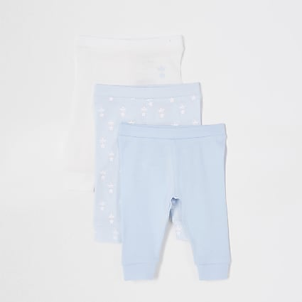 Baby blue crown leggings 3 pack