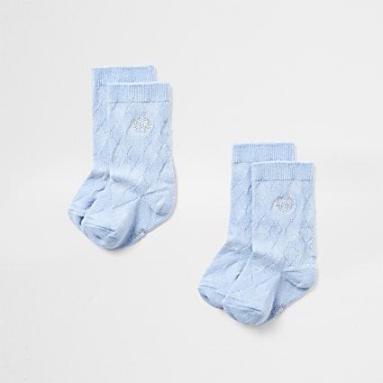 Baby blue knee high socks