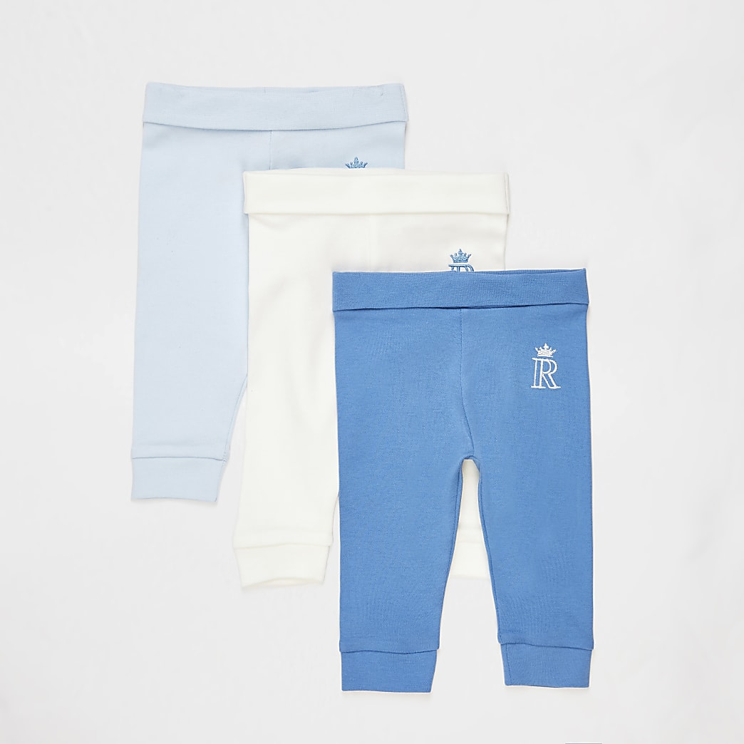 Baby blue leggings 3 pack