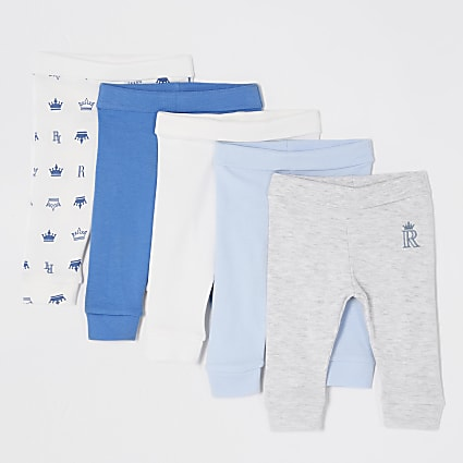 Baby blue leggings 5 pack