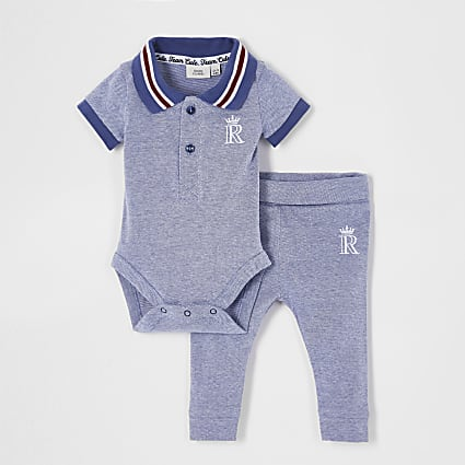 Baby blue polo outfit