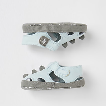 Baby blue RI dinosaur gladiator sandals