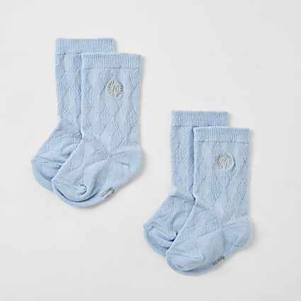 Baby blue RI knee high socks