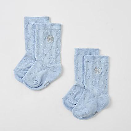 Baby blue RI knee high socks