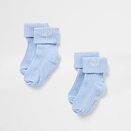 Baby blue RI socks 2 pack