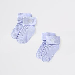 Lot de chaussettes RI bleues pour bébé