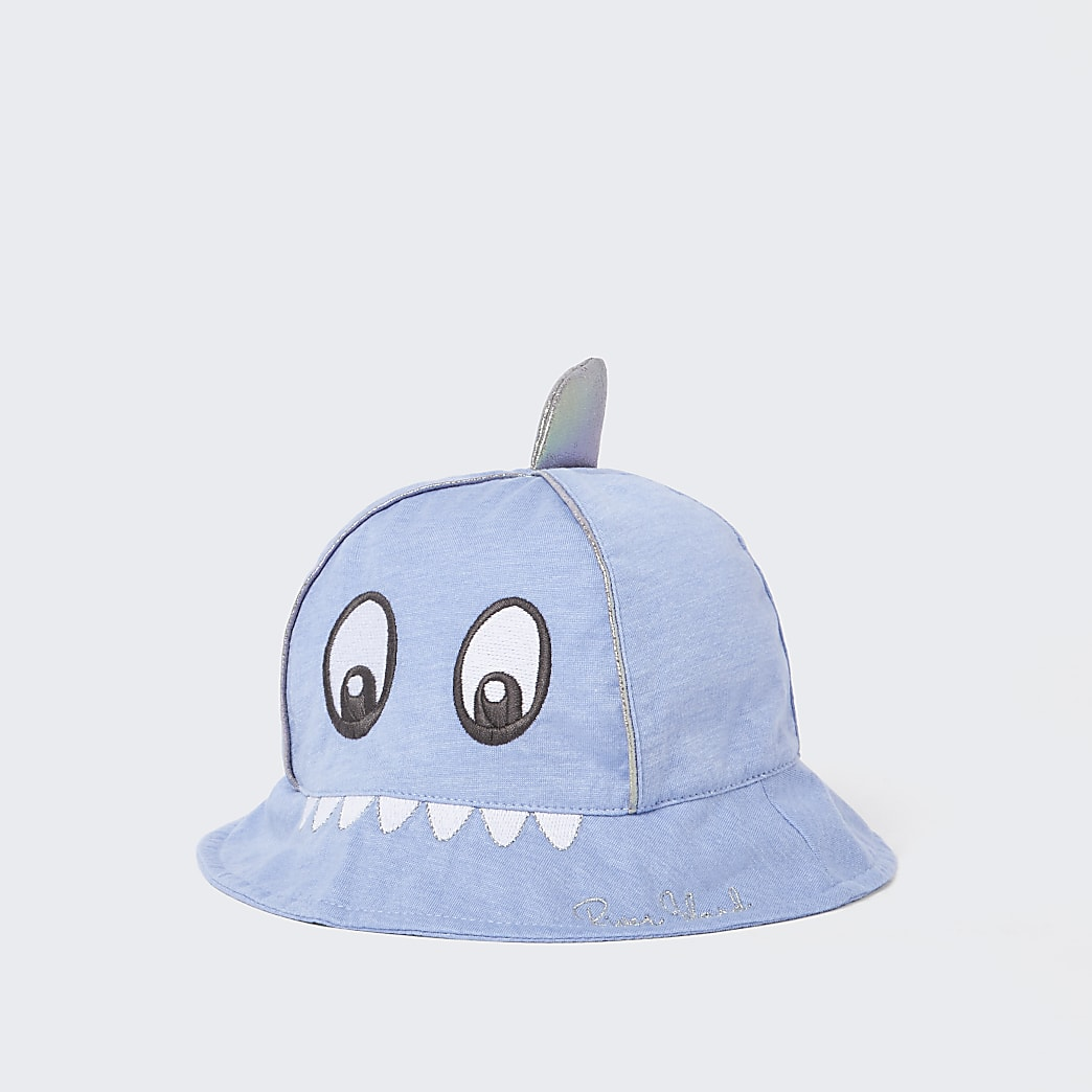 Baby blue shark bucket hat