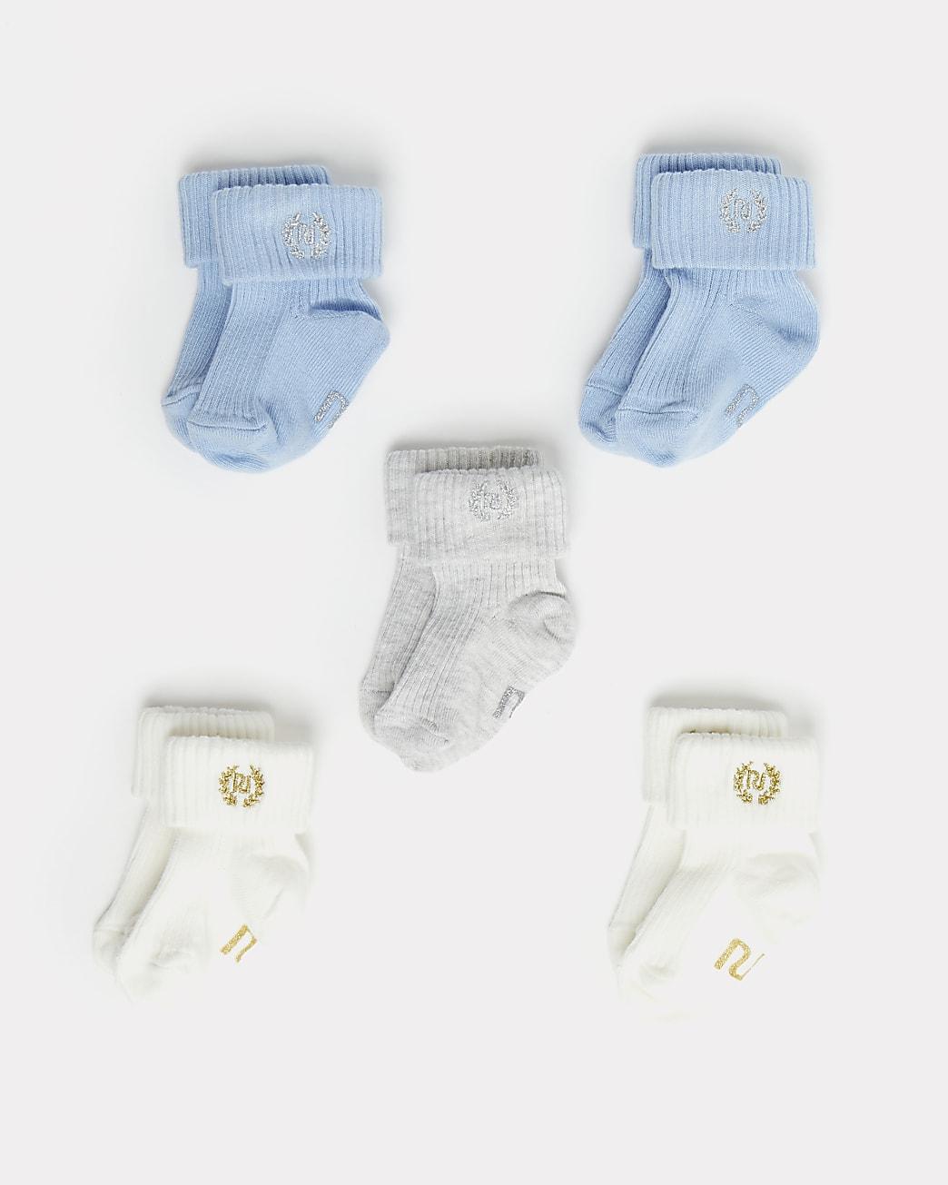 Baby blue socks 5 pack