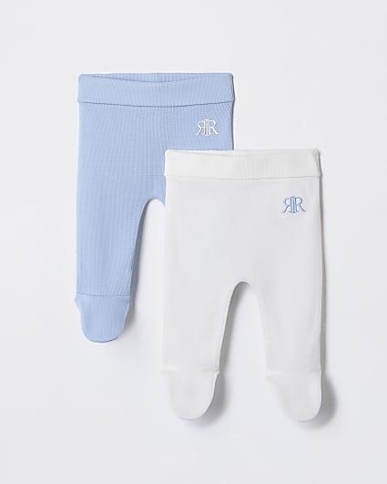 Baby blue waffle leggings 2 pack