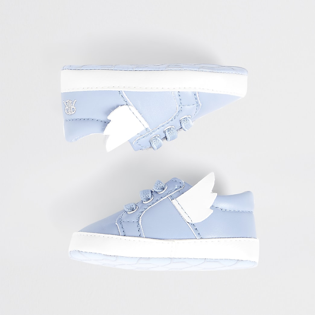 Baby blue wing trainers