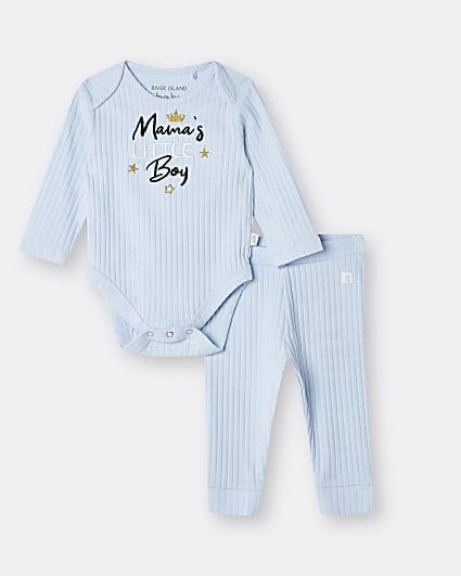 Baby boys blue 'Mummy's Little Boy' set