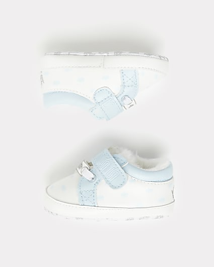 Baby boys blue RI crown trainers