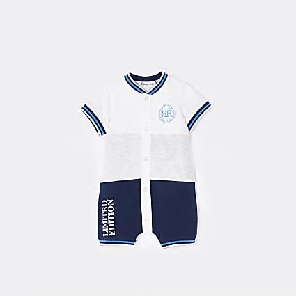 Baby boys blue RR bodysuit