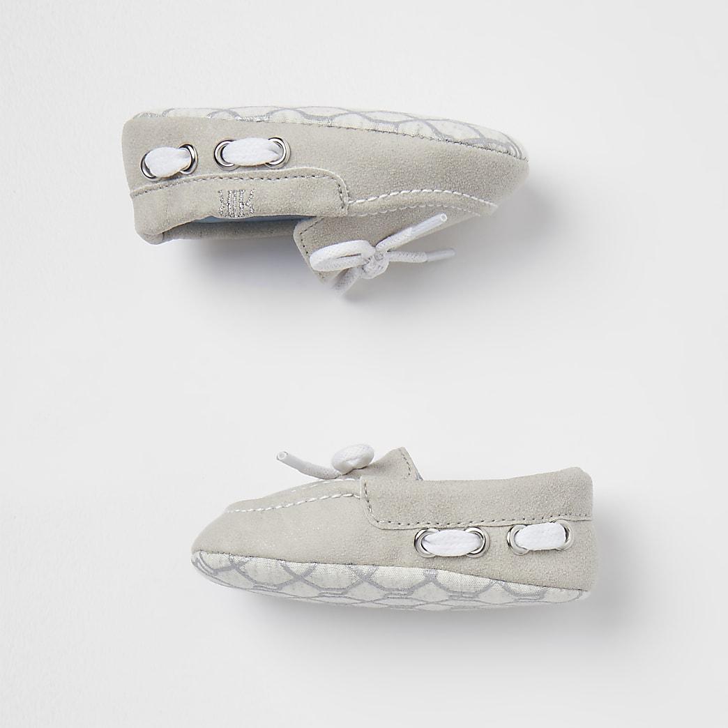 Baby boys grey boat shoes