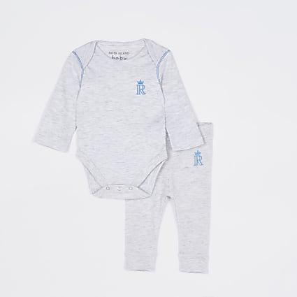 Baby boys grey RI bodysuit outfit