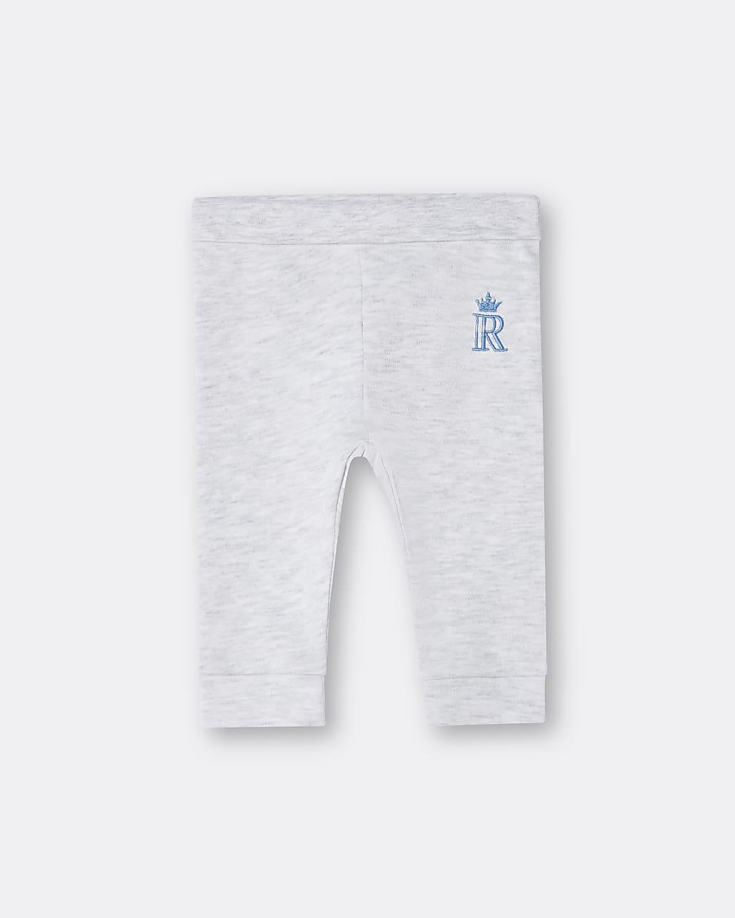 Baby boys grey RI embroidered leggings