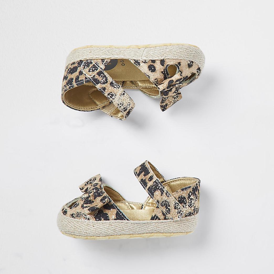 Baby brown leopard RI sandala