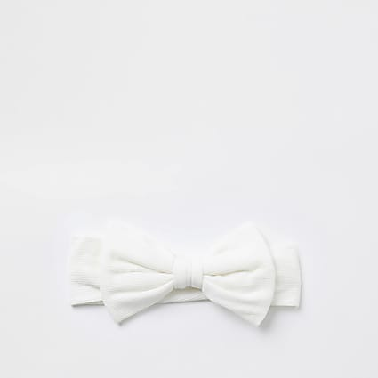 Baby cream bow headband