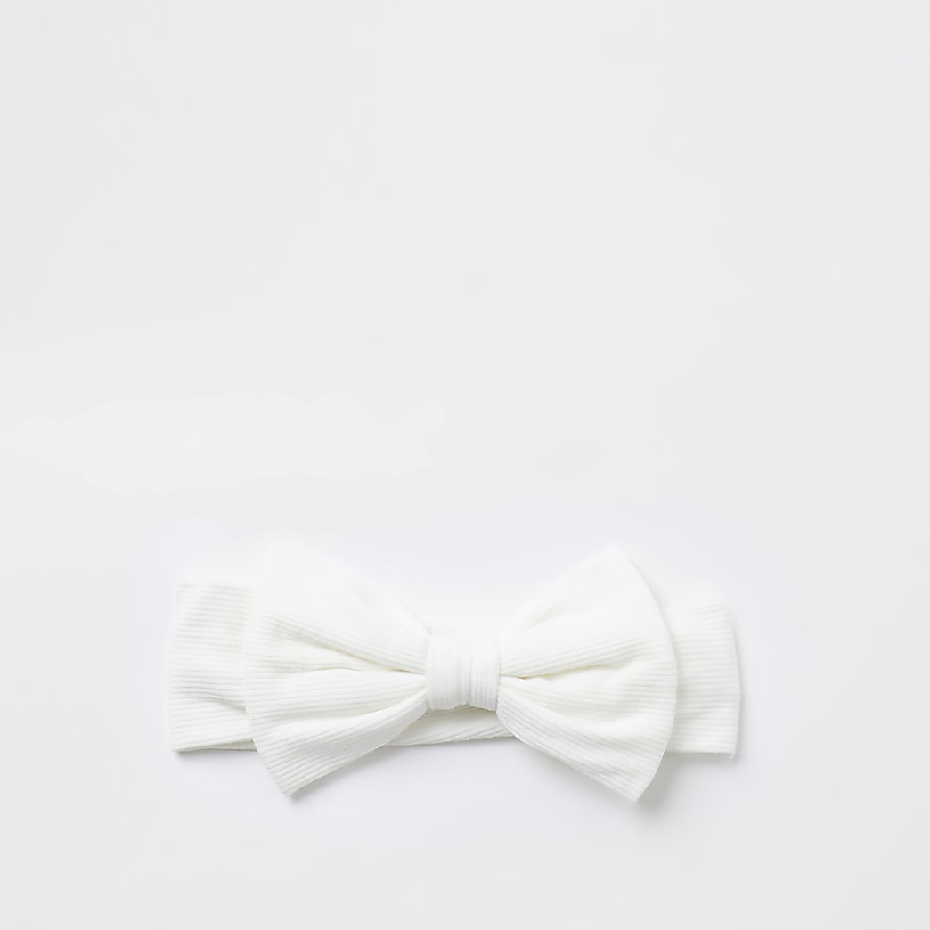 Baby cream bow headband