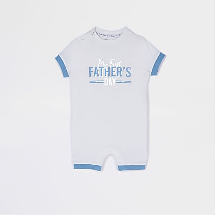 Baby cream 'Fathers Day' romper